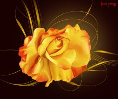 yellow rose by IgnisFatuusII