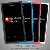 Nokia Lumia 800 PSD by Livven
