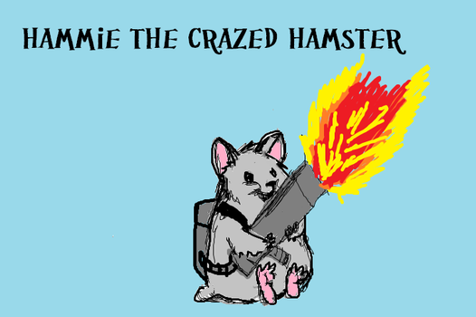 Hammie the Crazed Hamster by Monsling