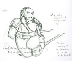 Sketch - Arla, lady Dwarf by rachelillustrates