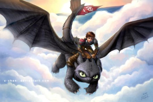 Hiccup and Toothless 2 by elisetrinh