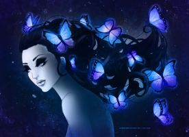 Butterfly Hair by LilaCattis