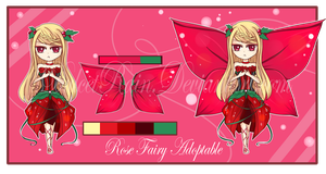 Rose Fairy Adoptable- Auction: [CLOSED] by DulcetRain