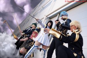 KillLaKill (Romics2014) Satsuki and The Elite Four by Noriyuki83