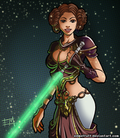 Warrior Princess Leia by EdMoffatt
