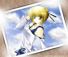 Saber-chan by taikuna by Fate-Stay-Night