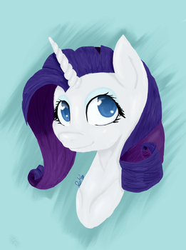 Rarity headshot 2 by DoughsDoodles