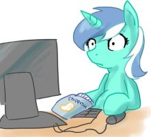 Lyra Uses the Internet by CobaltBrony