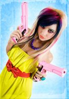 Loriel Andrea - Pink Guns 01 by destroyinc