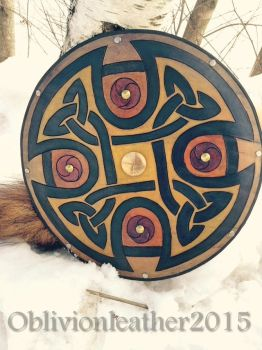 Celtic Targe by Oblivionleather76
