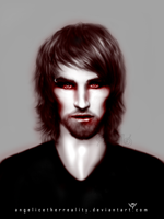 Realistic Drawing -Vampire Portrait '4 color by angelicetherreality