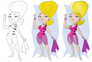 Atomic Betty's Mom Evolution by AtomicTiki