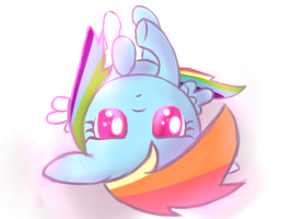 Bored Rainbow Dash by HeavyMetalBronyYeah