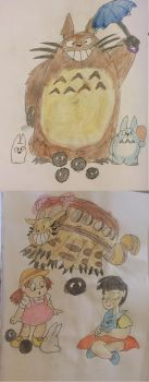 My Neighbor Totoro Watercolor by NathanTheMoldy