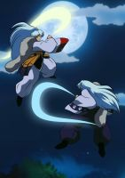 Sparring With Father by Inumaru101