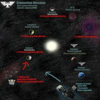 Space Art - Carte d'un systeme d'Arkectias by Coqualier