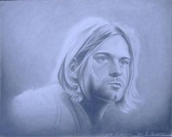 kurt cobain drawing by JeffEvans