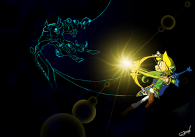 Link vs Phantom Ganon -Wind Waker by QuynzeL