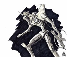 Unit 01 grayscale by 47ness