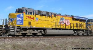 GE's 5000th Evolution Series Locomotive # 7964 by EternalFlame1891