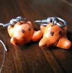 FOR SALE - wee squiddies earrings by LeiaLeaf