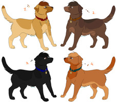 Adoptable Labradors - CLOSED by PoonieFox