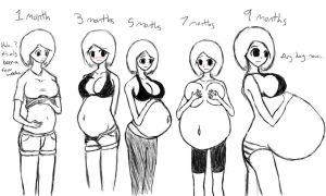 Carly's Pregnancy Progression by bambeeboo