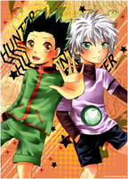 HunterxHunter - Gon and Killua by karoljc