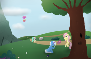Trixie and Fluttershy by MikorutheHedgehog