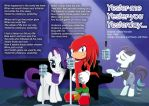 Rarity-Knuckles- Yester-me Yester-You Yesterday by abonomini