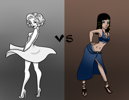 ERB Cleopatra VS Marilyn Monroe fanart by HollieBiscuit