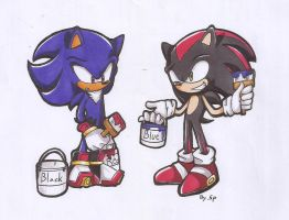 Sonic and Shadow change their's color by 415sonic