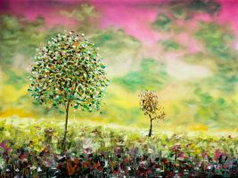 Two trees on acid by jvgauthier