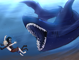 SHARK!! by MutantParasiteX