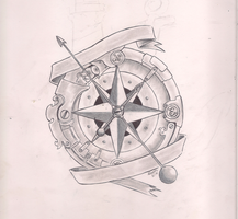 Steampunk compass by IcenHeart
