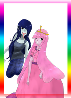 Marceline and Bubblegum (Digitally redone) by LadyDeathCandy