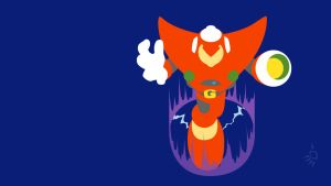 Gravity Man Minimalist Wallpaper by Krukmeister