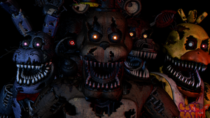 FNaF SFM: Gruesome animatronic puppets by Mikol1987