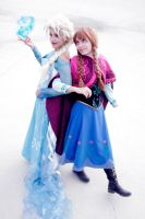 Elsa and Anna, Frozen by Doriri-chan