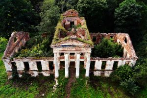 Mansion ruins by SkyCam
