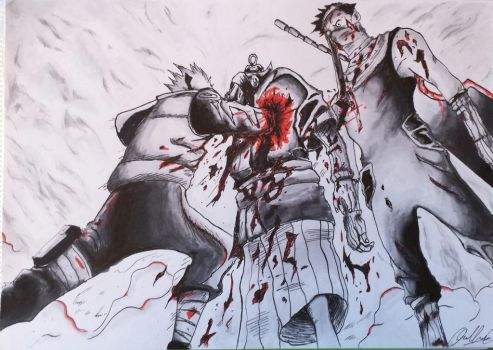 Zabuza's Fight by AC-98