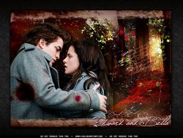 Edward and bella wall by GABY-MIX