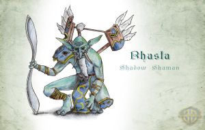 Rhasta-Shadow Shaman by bozwolfbros