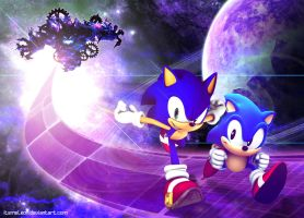 Sonics in a Spacial Adventure by ITSMELEON