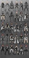 Female Armor Iterations (3) by KTierson