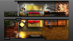 apartment plan by Steele404
