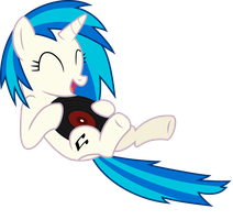 Vinyl Scratch - Vinyl with vinyl by namelesshero2222