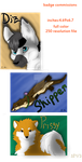 Accepting badge commissions by Shadowfoxnjp