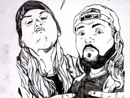 jay and silent bob by Flam-On
