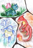 Pokemon evolutions by Halwen